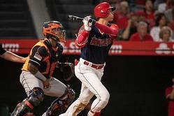 現地8月25日のアストロズ戦でバーランダーから本塁打を放ったエンゼルス・大谷翔平【写真:AP】