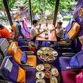 タイ国際航空本社にある機内をモチーフにしたカフェ。タイ・バンコクで(2020年9月10日撮影)。(c)Mladen ANTONOV / AFP