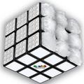 各面が異なる素材 触覚を頼りに解く「白一色」ルービックキューブ