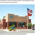 アメリカのセドナにあるマクドナルド店舗(画像は『Mirror 2021年4月29日付「Only McDonald's in the world without a golden arch becomes major tourist attraction」』のスクリーンショット)