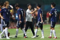 終了間際PKで接戦をモノにした森保ジャパン。韓国メディアは「「マレーシアに脂汗をかいた日本」と報じた。写真:徳丸篤史
