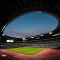 東京五輪のサッカーが行われる国立競技場(2019年12月15日撮影、資料写真)。(c)Behrouz MEHRI / AFP