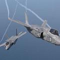 飛行するF35戦闘機(ロッキード・マーチン提供)