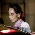 オランダ・ハーグの国際司法裁判所を後にするミャンマーのアウン・サン・スー・チー国家顧問(2019年12月12日撮影)。(c)Koen Van WEEL / ANP / AFP