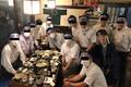NHK フェイスシールド飲み会実施