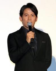 『来る』の初日舞台挨拶に登壇した岡田准一