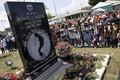 インディアナ州ゲーリーにあるジャクソンさんの墓(AP)