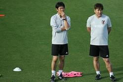 コーチとして西野ジャパンの快進撃を支えた森保新監督は、「日本人のメンタリティと身体能力等の良さを活かす」ことが大事だと語った。写真:JMPA代表撮影(滝川敏之)