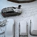 雪が積もったウクライナの首都キエフ(2021年2月9日撮影)。(c)Sergei SUPINSKY / AFP