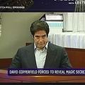 米スーパー・マジシャンのデヴィッド・カッパーフィールド裁判で無念のタネあかし(画像は『NBC News 2018年4月24日付「David Copperfield forced to reveal secret behind illusion in Las Vegas courtroom」』のスクリーンショット)