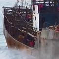 北朝鮮の漁船(水産庁提供)