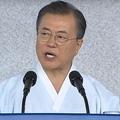 2019年8月、光復節に際して演説を行った文在寅大統領(韓国青瓦台提供)
