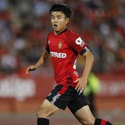 3試合目の出場で初アシストを記録した久保。高精度の左足キックで魅せた。(C)Mutsu KAWAMORI
