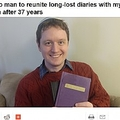 37年前の日記を無事持ち主に届けることができた男性(画像は『CP24 2020年12月28日付「Toronto man to reunite long-lost diaries with mystery woman after 37 years」』のスクリーンショット)