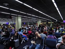 ドンムアン国際空港は格安航空会社専用空港で、利用者の大半が中国人だ