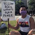 米首都ワシントンで開催されたデモに参加したアジア系米国人ベト・ホアイ・チャンさん(2020年6月15日撮影)。(c)Torrence OTTEN / AFP