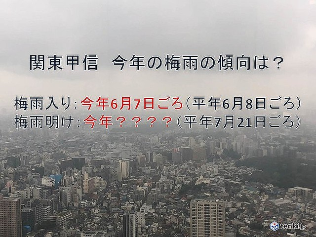2019 梅雨 明け 予想 関東