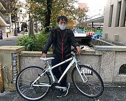 「Uber Eats」の配達で旅費を稼ぎながら、自転車で東京から沖縄まで旅した経験がある