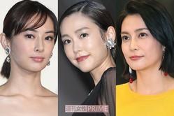 (左から)北川景子、桐谷美玲、柴咲コウ
