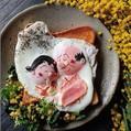 波平とフネの目玉焼きトースト(画像提供:えとにママさん)