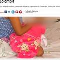 兄にレイプされた10歳少女、男児を出産(画像は『Mirror 2018年11月5日付「Girl, 10, 'raped by own brother' gives birth to boy in Colombia」(Image:CEN/Noticias RCN)』のスクリーンショット)