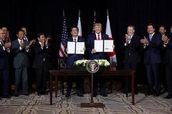 日米貿易協定締結で最終合意(C)ロイター