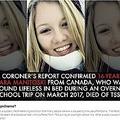タンポンの長時間使用で亡くなった16歳少女(画像は『Fox News 2018年6月28日付「Teen who died on overnight school trip suffered from toxic shock syndrome, coroner says」』のスクリーンショット)