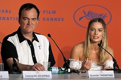 カンヌ会見でのクエンティン・タランティーノとマーゴット・ロビー  - John Phillips / Getty Images