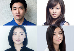 左上から時計回りに:柄本佑、前田敦子、尾野真千子、三浦透子 ©2018「素敵なダイナマイトスキャンダル」製作委員会