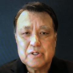 退院し、ウェブ上で取材に応じた田嶋会長