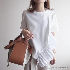 59eda7574119a シンプルに細見え!体型不安でもOKな「白Tシャツの着こなし」方 - Peachy ...