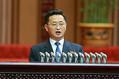 最高人民会議第14期第4回会議での金徳訓氏(2021年1月18日付労働新聞)