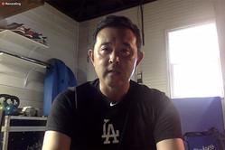 野球少年少女にオンラインで講習会を行ったドジャース・中島陽介トレーナー【写真:編集部】