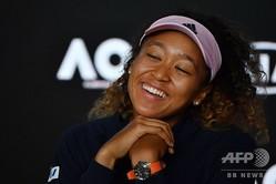 全豪オープンテニス、女子シングルス決勝。試合後の記者会見に臨む大坂なおみ(2019年1月27日撮影)。(c)WILLIAM WEST / AFP
