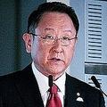 決算発表で記者会見を行う豊田章男社長。(画像: トヨタ自動車の発表資料より)