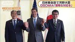 """河野大臣 """"GSOMIA""""韓国に「賢明な対応を求める」"""