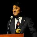橋本のロストフ移籍についてオンライン会見で語った大金社長。写真:サッカーダイジェスト