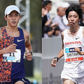 大迫傑(左)と設楽悠太【写真:Getty Images,荒川祐史】