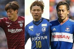 Jリーグで好調を維持する古橋(左)、藤本(中央)、仲川(右)は、コパ・アメリカで見てみたい選手だ。(C)SOCCER DIGEST