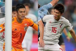 (左から)日本代表GK川島、DF冨安【写真:AP】