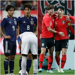 ともに新政権下で上昇気流に乗る日韓両代表。やはりアジアカップでは覇権を争うことになるか。(C)SOCCER DIGEST,REUTERS/AFLO