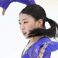 真剣な表情で練習する紀平梨花(カメラ・矢口 亨)