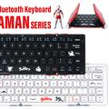 キーに怪獣が ウルトラマンデザインの3つ折りキーボード