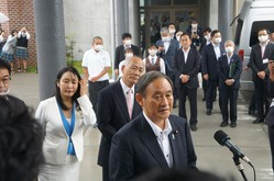 9月26日に初の地方視察として福島訪問をした菅首相