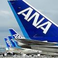 ANA ジェット飛行機、羽田空港