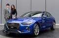 現代自動車は高級車ブランド「ジェネシス」の中型セダン「G70」を公開した。20日から販売する(同社提供)=15日、ソウル(聯合ニュース) (END)