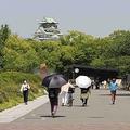 ノーマスクピクニックの会場とされる大阪城公園=2021年4月30日(撮影・杉田康人)