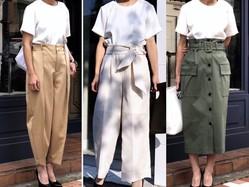 カジュアルコーデの代名詞、白T。体型をカバーしたい大人世代にとって重要なのは、Tシャツと身体との間の少しの隙間。ぴったりしすぎない、ちょっとだけゆるい「ちょいゆる」が大切です。