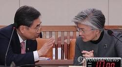 外交部の康京和(カン・ギョンファ)長官(右)と趙次官(資料写真)=(聯合ニュース)