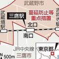 """東京・三鷹駅で""""南北問題"""" 蔓延防止..."""